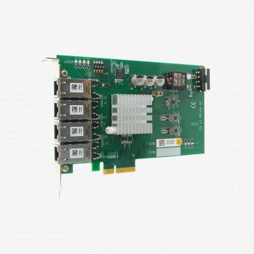 Neousys PCIe-PoE354at x4 네트워크 카드 4 포트